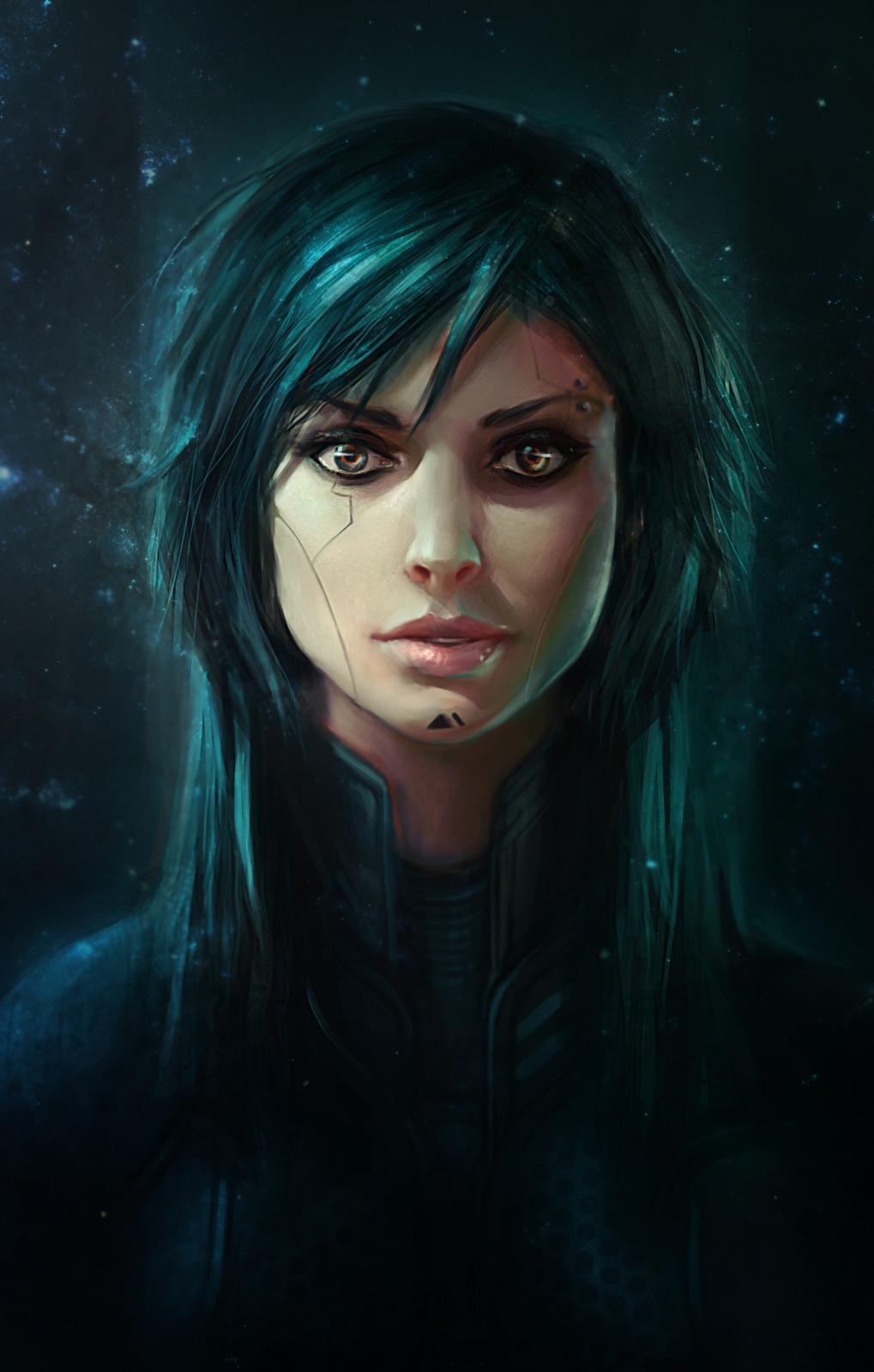 File 1019x1600 7445 Kaa 2d Sci Fi Portrait Female Girl