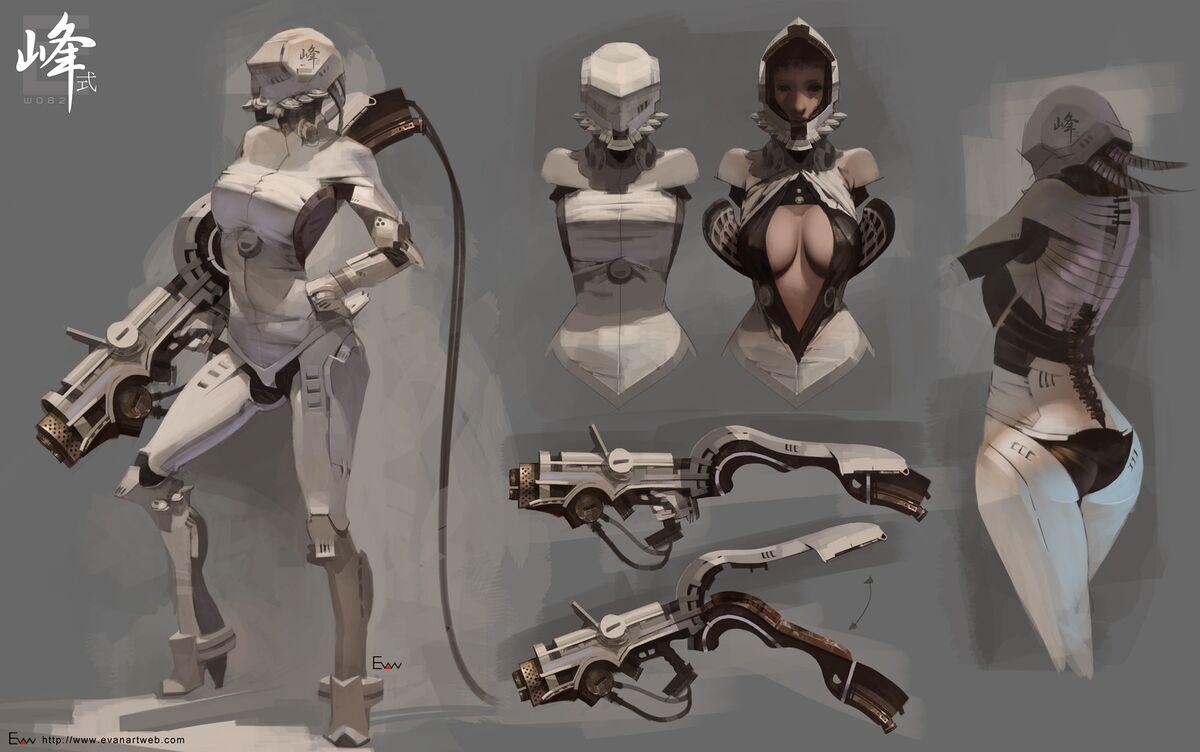 Sci-fi women art nackt pic