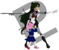 Robot sailor pluto and small lady by tabascofanatikerin d4gkm7o.png