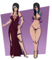 Rose dress unarmed by ezula 87-dbisl20.png